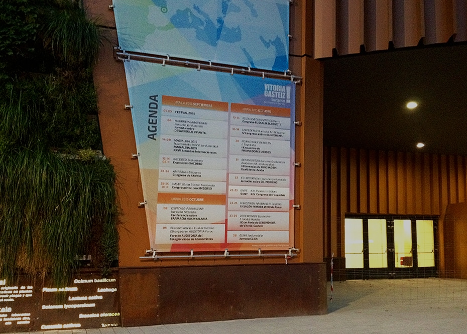 Palacio de Congresos Europa, Vitoria-Gasteiz, diseño gráfico